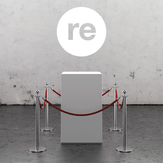 Gallery plinth with republic.gallery icon